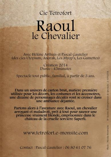Raoul dos flyer brouillon